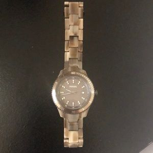 Fossil Brown Tan Marble Watch